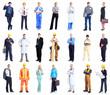 business people, doctor, worker, contractor