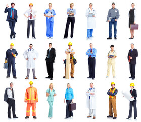 business people, doctor, worker, contractor