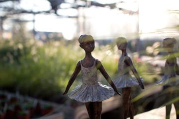 Balletttänzerin Figur aus Bronze