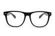 Leinwandbild Motiv Black retro nerd glasses on white background
