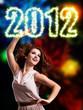 tanzende Frau und 2012-Schrift