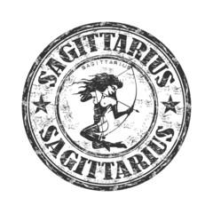 Sagittarius grunge rubber stamp