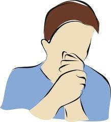 man get a clold a dry cough