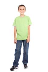 Boy in green t-shirt