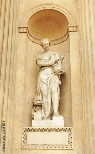 Statue at Louvre in Paris, France