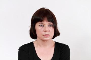 Depressive Frau
