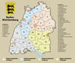 Kreiskarte Baden-Württemberg