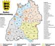 Kreiskarte Baden-Württemberg - 36388797