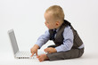 Baby Typing on Laptop