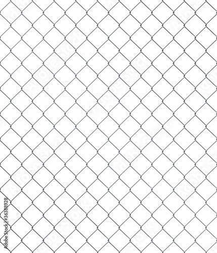 Shiny seamless chainlink fence with brushed metal texture