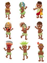 cartoon Africa Indigenous icons