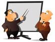 businessman doing presentation