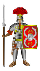 Roman centurion on white
