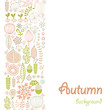 vector background with autumn ornament