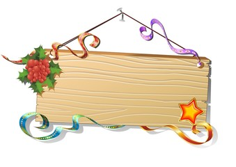 Natale Pannello Legno Sfondo-Christmas Wood Panel Background