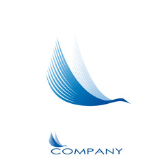 Logo stork, transport and courier services # Vector