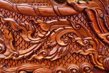 teak wood craving thai style