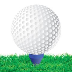 Départ de partie de golf