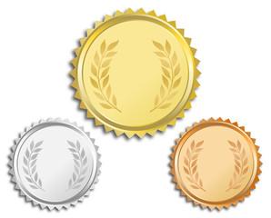 Gold Silber Bronze - Vektor-Medaillen