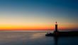 Leinwanddruck Bild - phare crépuscule