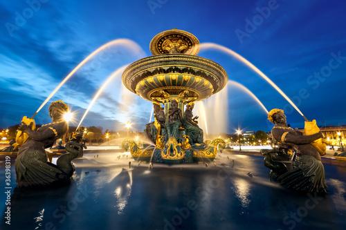 Foto op Aluminium Fontaine fontaine place de la Concorde, Paris