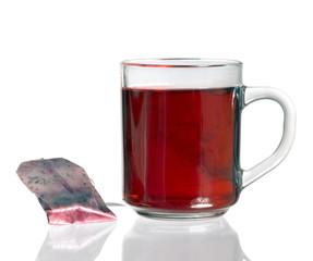 teacup and tea bag