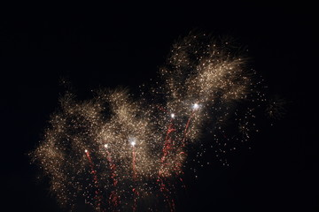 Gold dust fireworks