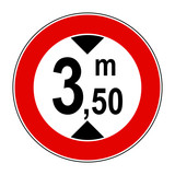 Divieto di transito ai veicoli aventi altezza superiore a 3,50 m poster