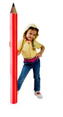 Kind mit dem Bleistift