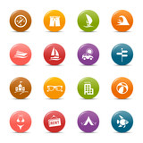 Colored dots - Vacation icons