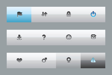 Interface buttons for signs