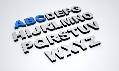 ABC - Blau Grau