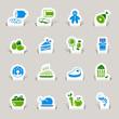 Detaily fotografie papercut - potraviny ikony