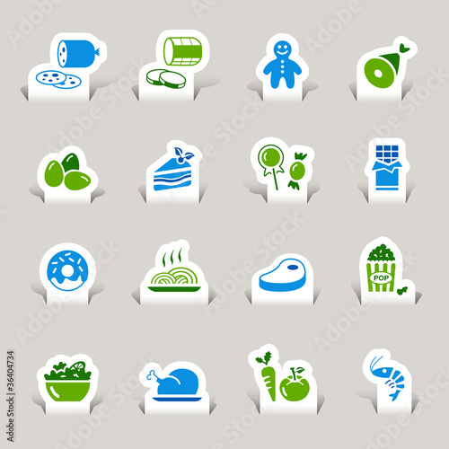 Papercut - Food Icons