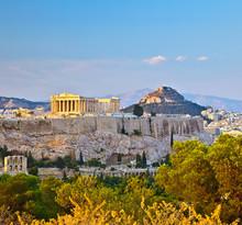 Blick auf Akropolis in Athen