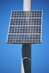 Updated Solar Panel on Pole
