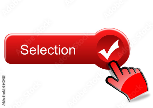 Selection button with red hand