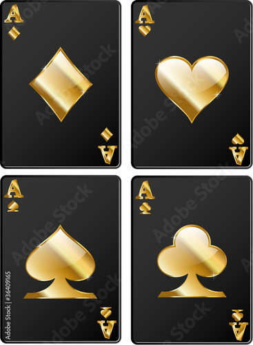 Casino black golden cards