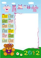 calendario base femminuccia 2012 verticale