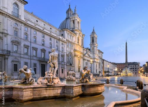 Fontana del Moro, Piazza Navona, Roma