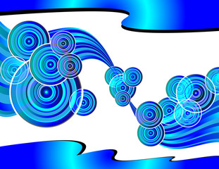 Retro Circle Wave