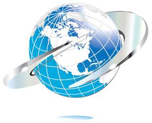 Chrome World Globe