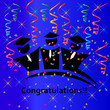 Graduates congratulations vector