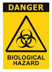 Biohazard symbol sign biological threat alert black yellow