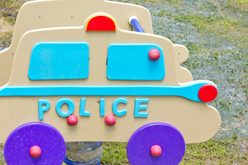 colorful Police car, Children's playground