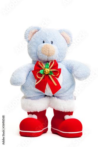 Teddy bear . Isolated over white.