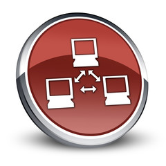 "Red 3D Style Icon ""Network"""
