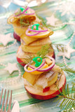 herring appetizer with potato and apple