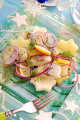 herring salad with potato and apple