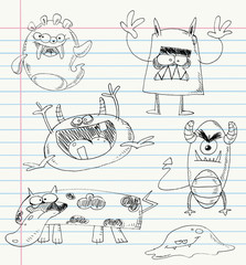 Monster doodles set 2